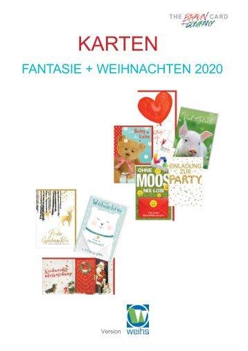 Glückwunschkarten Weihnachten + Allgemein 2020