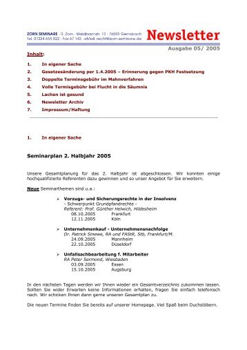 5-2005 - Zorn-Seminare
