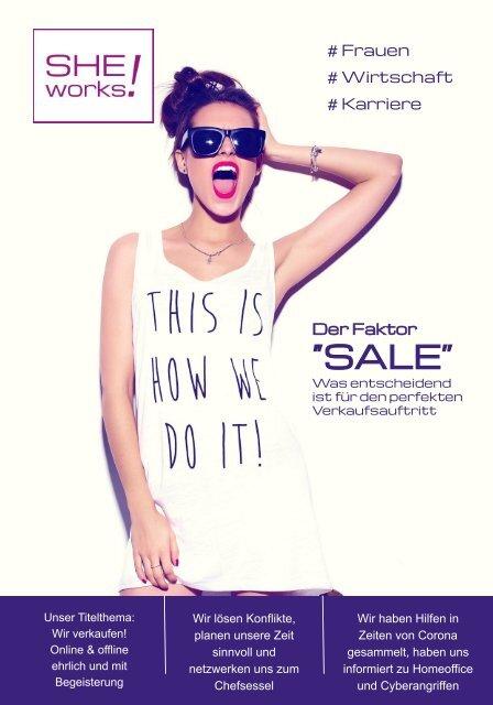 Was entscheidend ist für den perfekten Verkaufsauftritt – Das SHE works! Magazin im April 2020