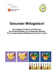 Gesunder Mittagstisch - ess.art