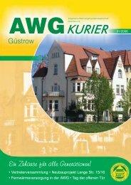 AWGKURIER - Allgemeine WohnungsbauGenossenschaft Güstrow ...