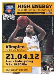 EnBW vs. s.Oliver Baskets - 21.04.2012 - Neckar RIESEN ...