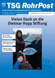 aktuelles geschehen - TSG Heidelberg-Rohrbach