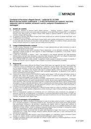 Miyachi Europe Corporation Condizioni di fornitura e Regole ...