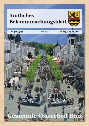 Nr. 13 vom 24. September 2012 - Binz
