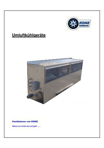 Deckblatt Umluftkühlgeräte - Ventilatoren von KONZ