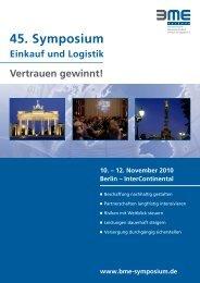 BME 45 Symposium Sales - targusconsulting.de