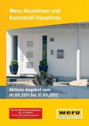 Weru-Aluminium und Kunststoff-Haustüren Aktions-Angebot vom