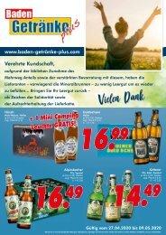 Baden Getränke Plus April 2020