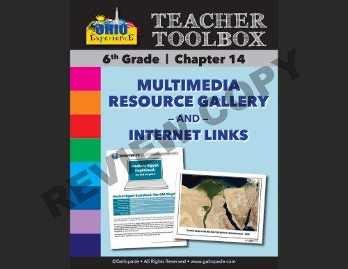 6th Grade MultiMedia Resource Guide