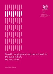 Growth, employment and decent work in the Arab - International ...
