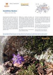 Tourentipp 04.2020 – Gemütliches Wandern
