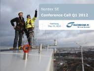1.1 bn EBIT 1 - Nordex