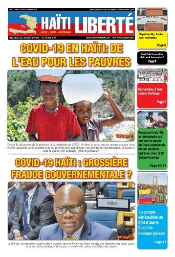 Haiti Liberte 8 Avril 2020