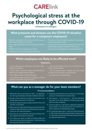 Psychological stress at the workplace through COVID-19