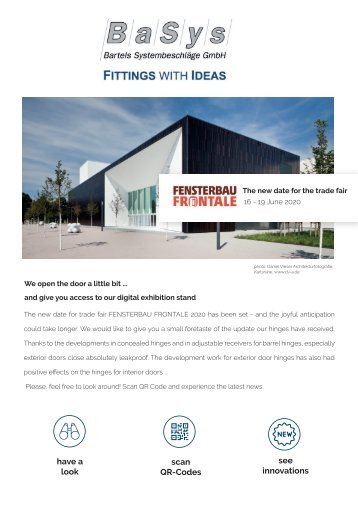 BaSys - Fittings with ideas // Fensterbau Frontale 2020
