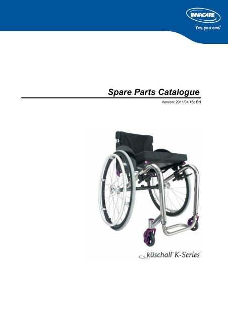 PARTS-PUBLISHER Workbench - Küschall® K-Series - Invacare UK