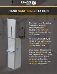 Ranger Design Hand Sanitizing Station