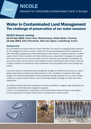 Programme - The Network for Industrially Contaminated Land in ...