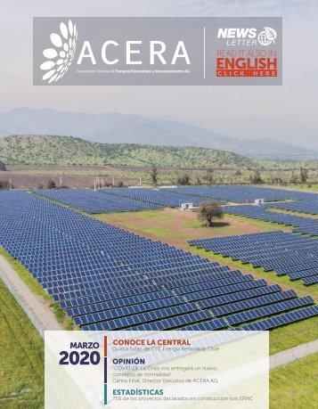Newsletter ACERA - Marzo 2020