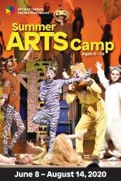 2020 Summer Arts Camp Brochure