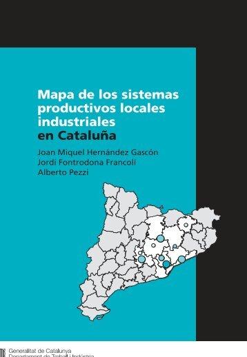 Mapa de los sistemas productivos locales industriales en Cataluña