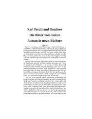 Karl Ferdinand Gutzkow Die Ritter vom Geiste Roman in neun ...