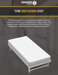 The Ranger Design Recover Cot