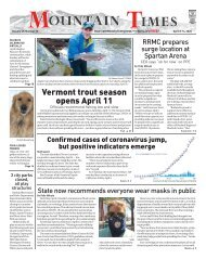 Mountain Times Volume 49, Number 15- April 8-14, 2020