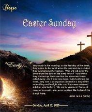 April 12, 2020 Bulletin EASTER SUNDAY