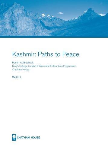Kashmir: Paths to Peace - MUNTR