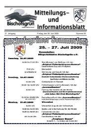 31. Jahrgang Freitag, den 26. Juni 2009 Nummer 06 - Gemeinde ...