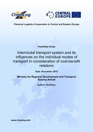 Intermodal transport system and its influences on the - Central Europe