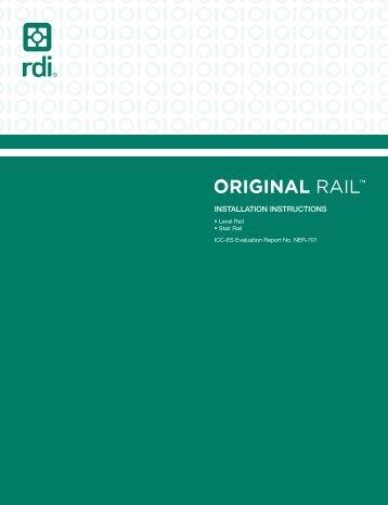 Endurance Railing Original Rail Installation Instructions