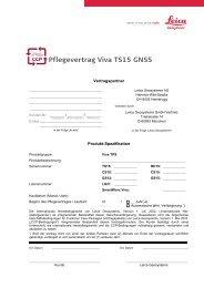 Pflegevertrag Viva TS15 GNSS - Leica Geosystems