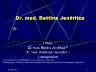 Dr. med. Bettina Jendritza