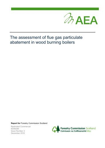 The assessment of flue gas particulate abatement - Wood Energy ...