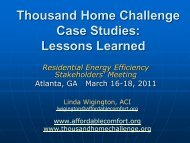 Thousand Home Challenge Case Studies: Lessons Learned - EERE