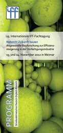 13. und 14. November 2012 in Weimar 19. Internationale IFF ...
