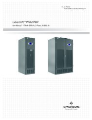 Liebert FPC™ With VPMP - Emerson Network Power