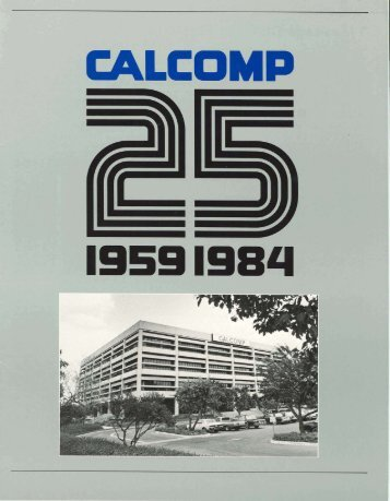 Calcomp 25: 1959-1984, 1984.