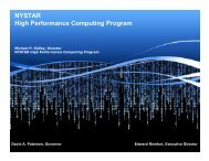 NYSTAR High Performance Computing Program - cs@union