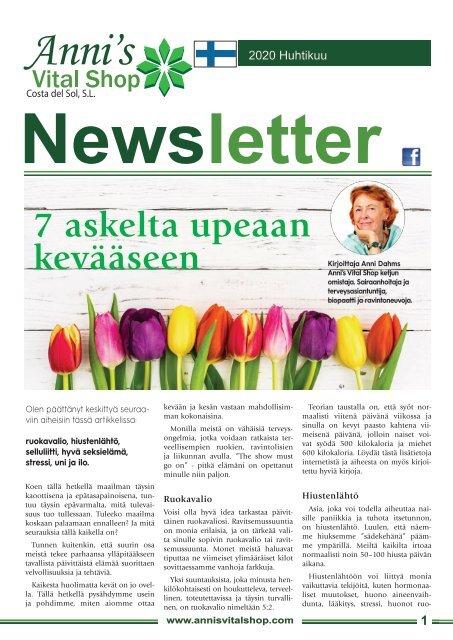 7 askelta upeaan kevääseen Kirjoittaja Anni Dahms
