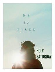 Holy Saturday Worship Aid