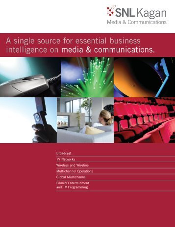 A single source for essential business intelligence ... - SNL Financial