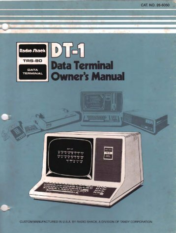 Tandy_DT-1_OwnersMan.. - Chicago Classic Computing
