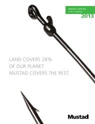 land covers 28% of our planet. mustad covers the rest.