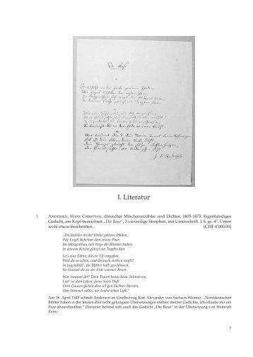 I. Literatur