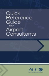 Quick Reference Guide Airport Consultants - ACConline.org