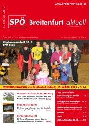 STelzeNSchNaPSeN von Breitenfurt aktuell, 16 ... - SPÖ Breitenfurt